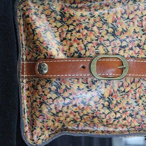 Patricia Nash Leather Mini-Bloom Pouch Bag